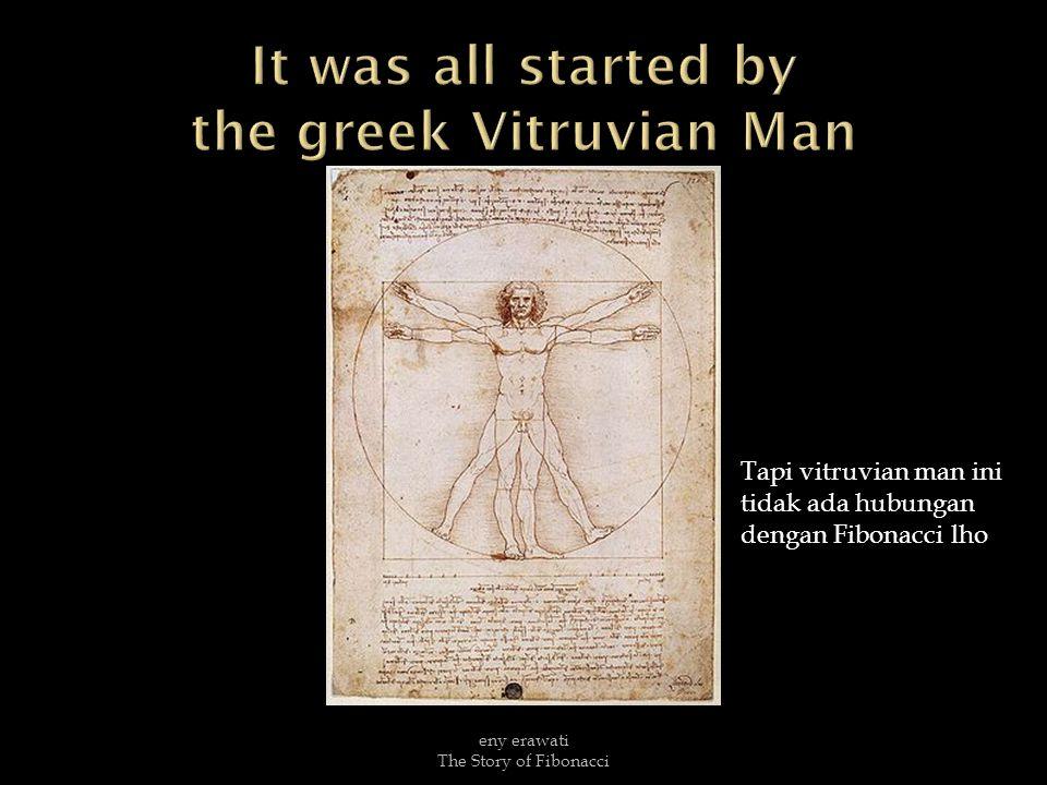 Tapi vitruvian man ini tidak ada hubungan dengan Fibonacci lho eny erawati The Story of Fibonacci