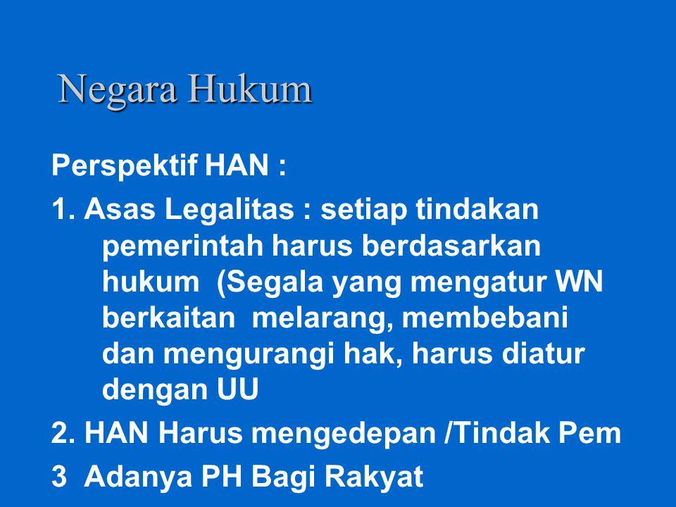 Aspek Normatif HAN STUREN BESTUUR PERLIND. HK. RAKYAT PERAN SERTA