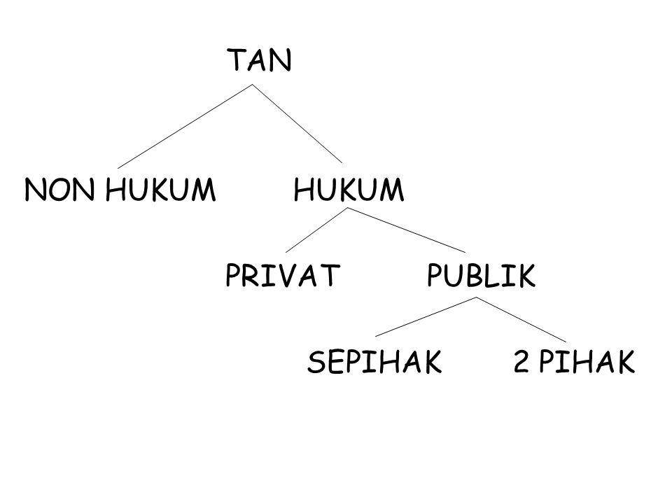 TAN NON HUKUMHUKUM PRIVATPUBLIK SEPIHAK 2 PIHAK