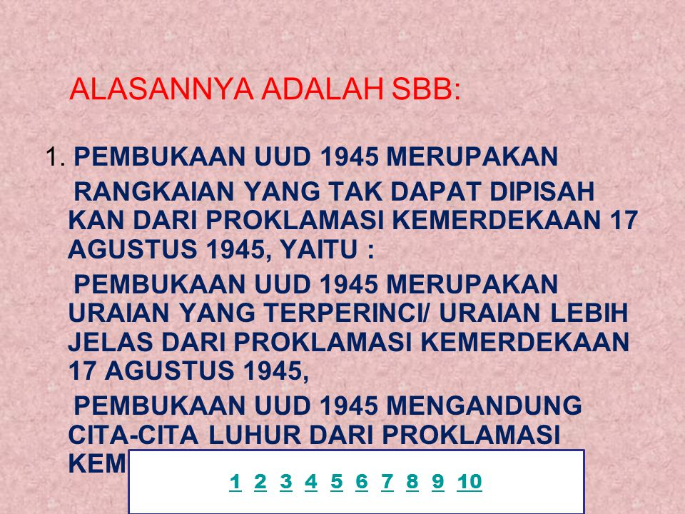ALASANNYA ADALAH SBB: 1.
