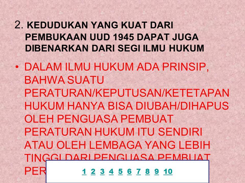 Contoh : Presiden grasi Keputusan MA kasasi / pk Keputusan PT banding Keputusan PN 11 2 3 4 5 6 7 8 9 102345678910