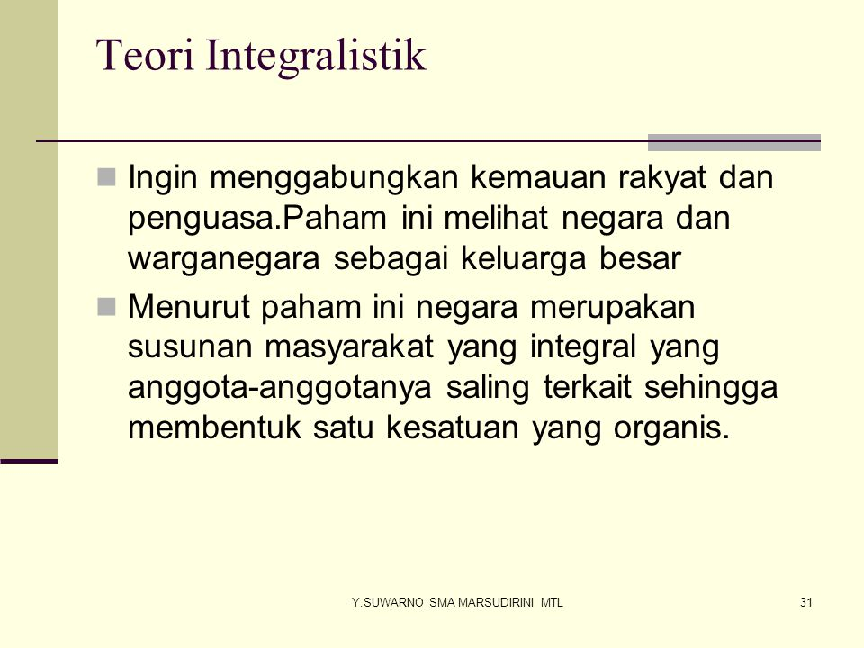 Y.SUWARNO SMA MARSUDIRINI MTL32 Tujuan NKRI menurut Pembukaan UUD 45 Melindungi segenap bangsa Indonesia dan seluruh tumpah darah Indonesia Memajukan kesejahteraan Umum Mencerdaskan kehidupan bangsa.