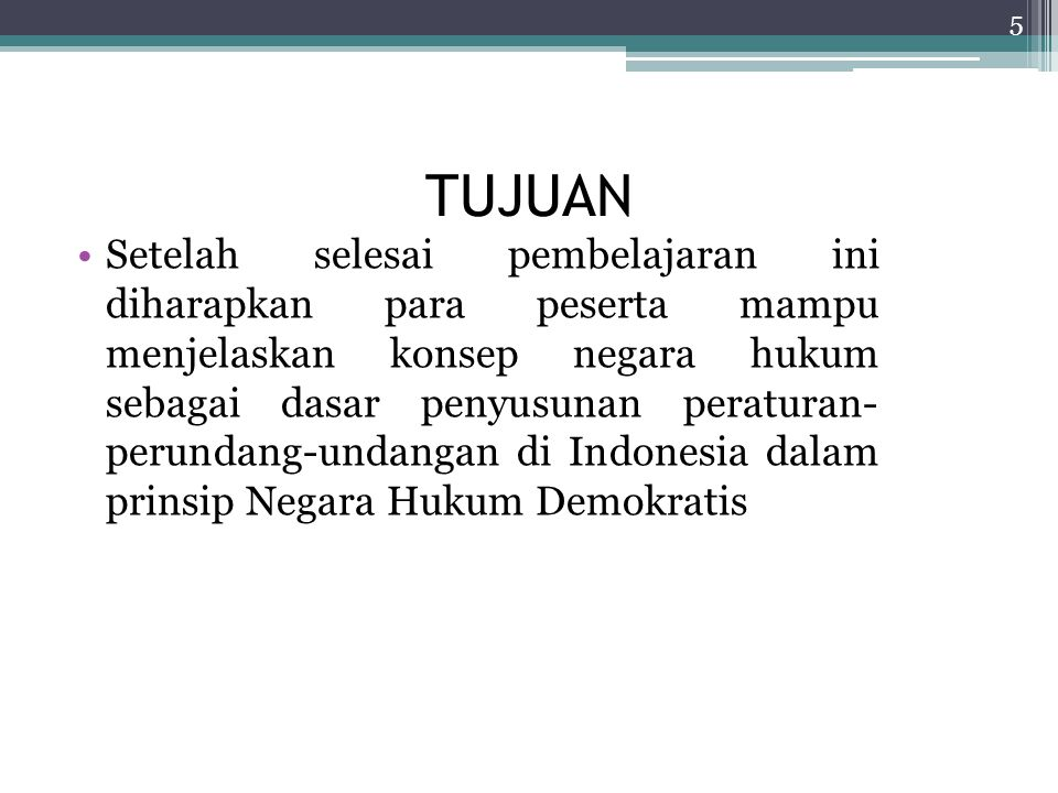 Unsur-unsur negara hukum secara umum 1.