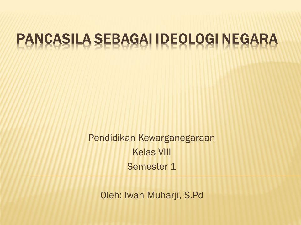 Pendidikan Kewarganegaraan Kelas VIII Semester 1 Oleh: Iwan Muharji, S.Pd