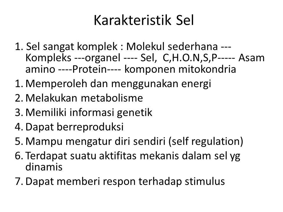 Karakteristik Sel 1.