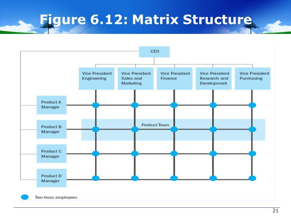 Figure 6.12: Matrix Structure 21