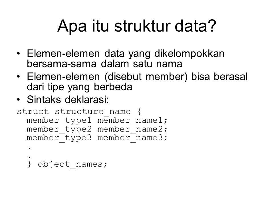 Apa itu struktur data.