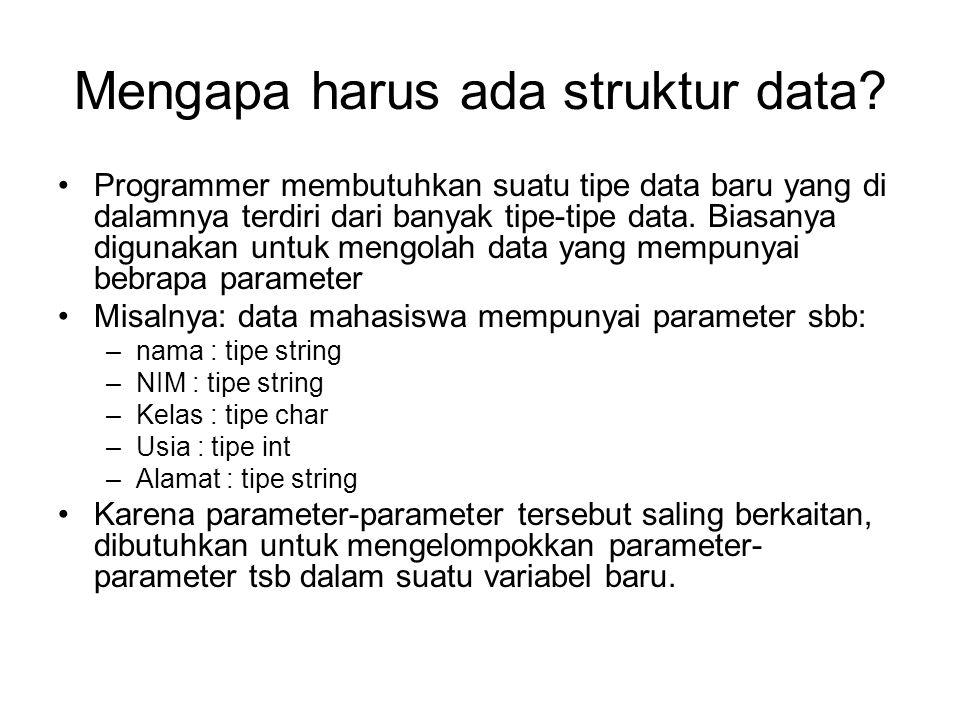 Mengapa harus ada struktur data.