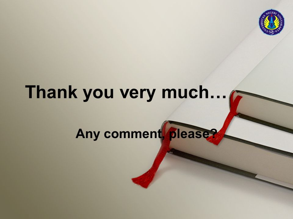 Thank you very much… Any comment, please?