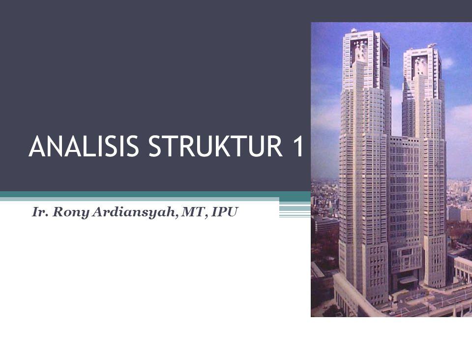 ANALISIS STRUKTUR 1 Ir. Rony Ardiansyah, MT, IPU