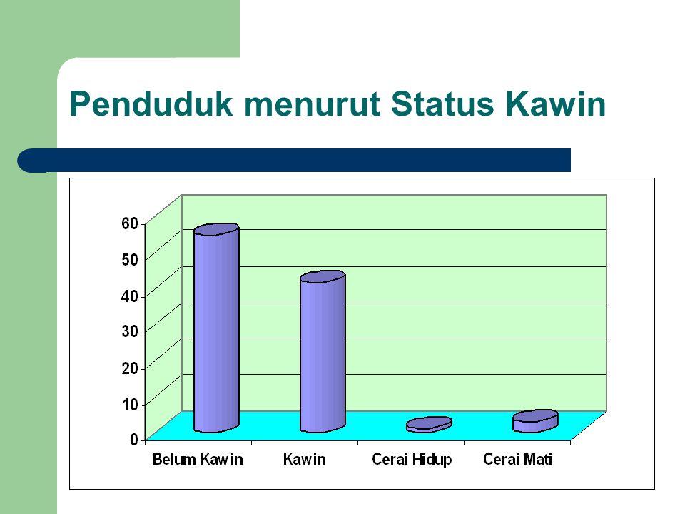 Penduduk menurut Status Kawin