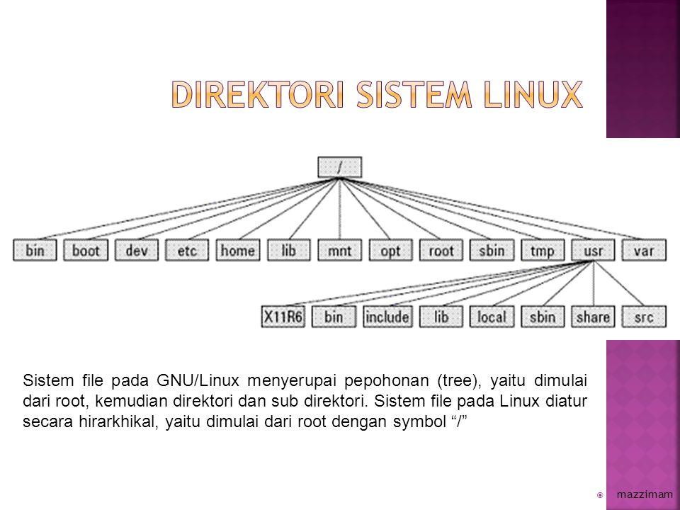  Direktori opt/option, direktori ini biasanya berisi aplikasi tambahan (add-on) seperti LAMPP, kde, gnome, Virtualbox, dll.