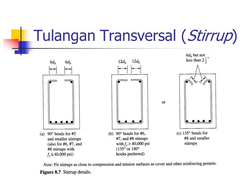 Tulangan Transversal (Stirrup)