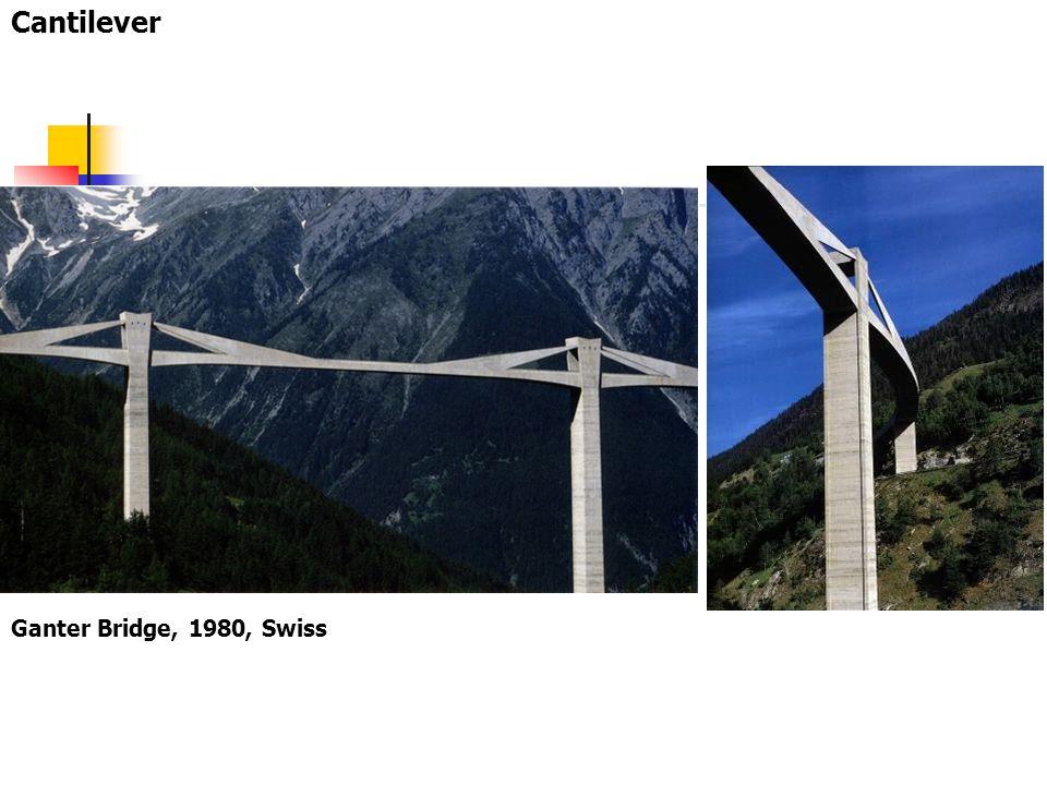 Cantilever Ganter Bridge, 1980, Swiss