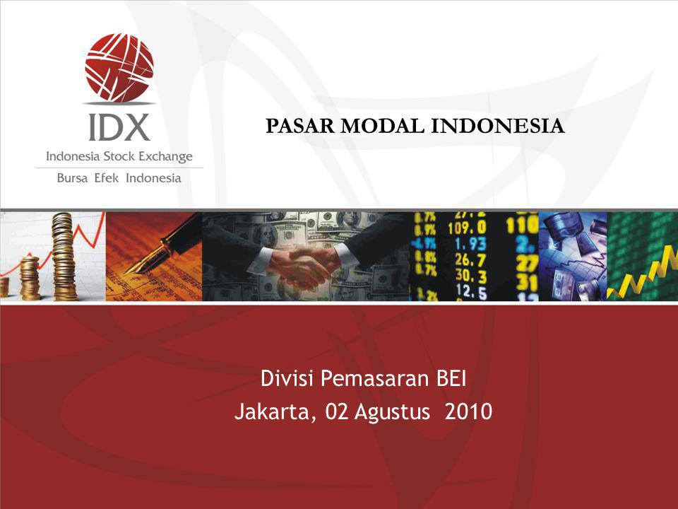 Divisi Pemasaran BEI Jakarta, 02 Agustus 2010 PASAR MODAL INDONESIA
