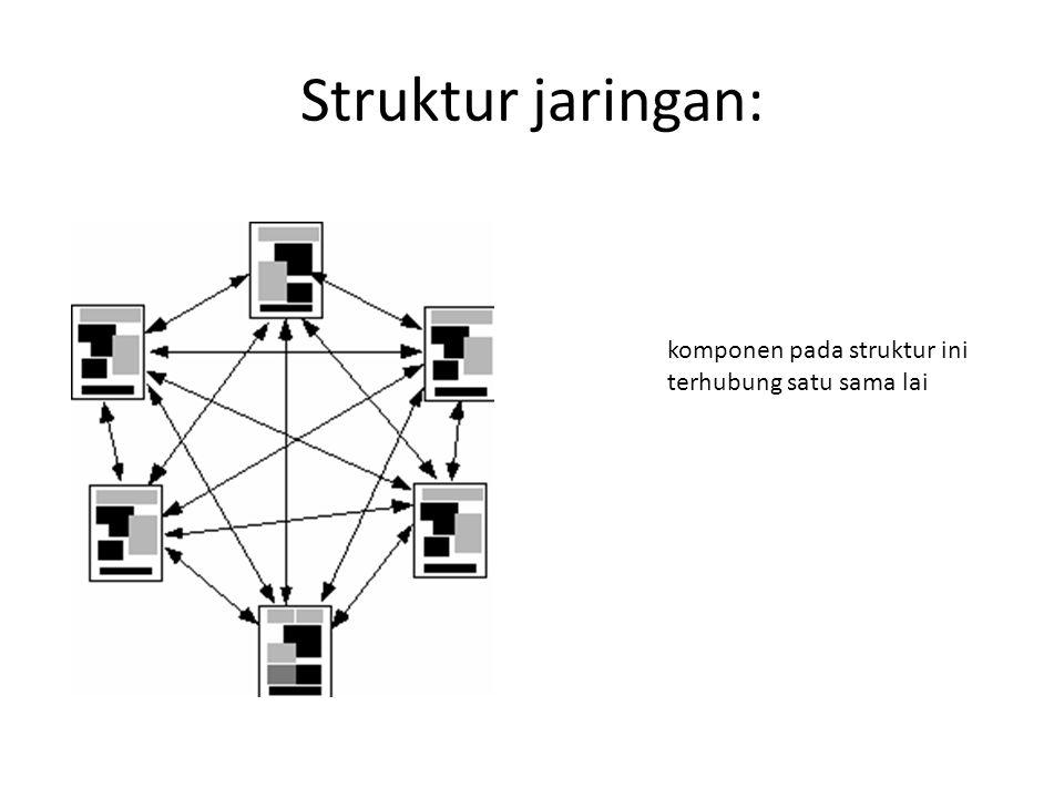 Struktur jaringan: komponen pada struktur ini terhubung satu sama lai
