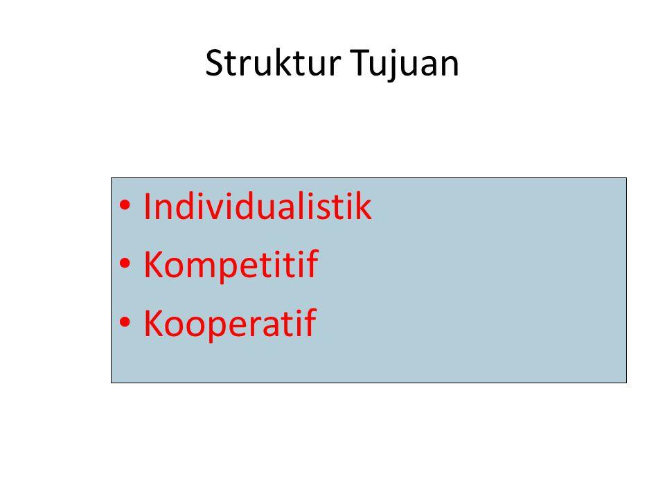 Struktur Tujuan Individualistik Kompetitif Kooperatif