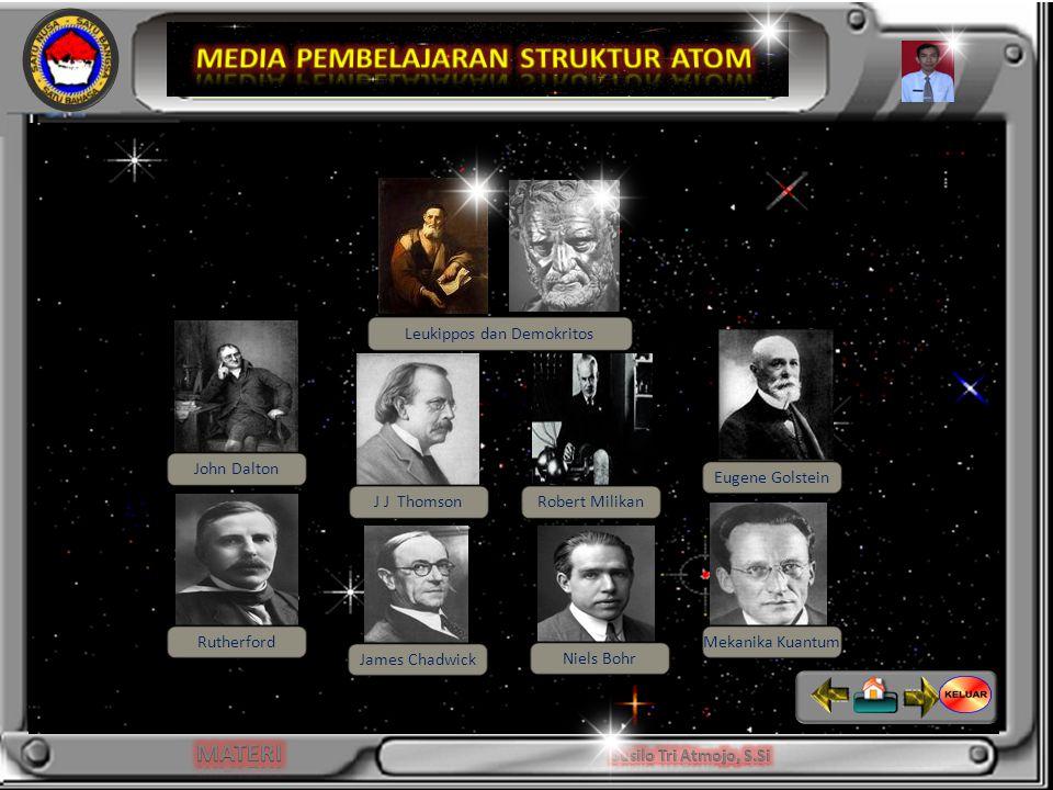 -Dapat menjelaskan perkembangan teori atom dan menggambarkan model atom - Menentukan partikel dasar (proton, elektron dan netron) Leukippos dan Demokritos John Dalton J J ThomsonRobert Milikan Eugene Golstein Rutherford James Chadwick Niels Bohr Mekanika Kuantum