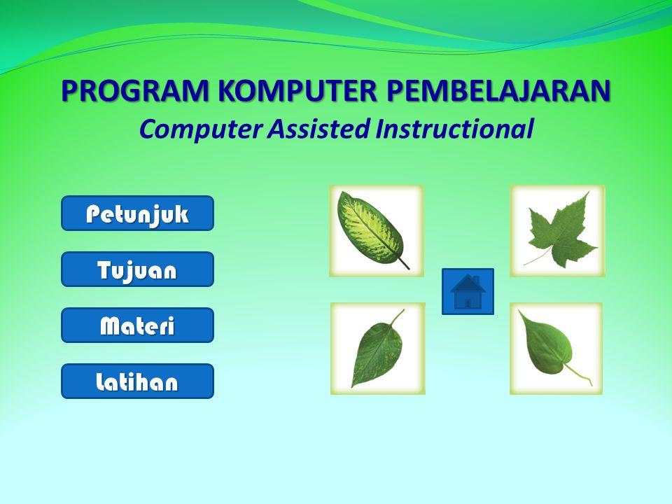 1.Contoh daun yang memiliki bagian- bagian lengkap adalah ….