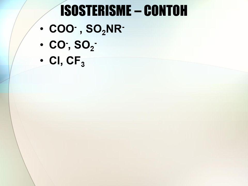 ISOSTERISME – CONTOH COO -, SO 2 NR - CO -, SO 2 - Cl, CF 3