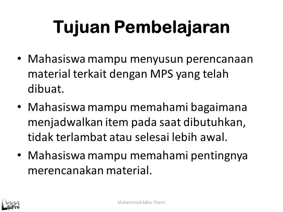 Input MRP Muhammad Adha Ilhami MPS Struktur Produk Inventory Master File