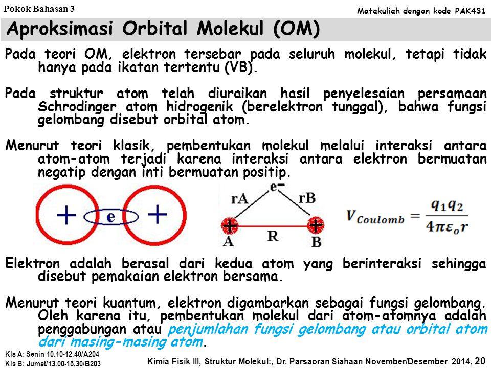Teori Ikatan Valensi (VB): Poliatomik Bagaimana menjelaskan molekul H 2 O, NH 3, dan CH 4 ? Caranya sama, yaitu tentukan konfigurasi elektron valensi