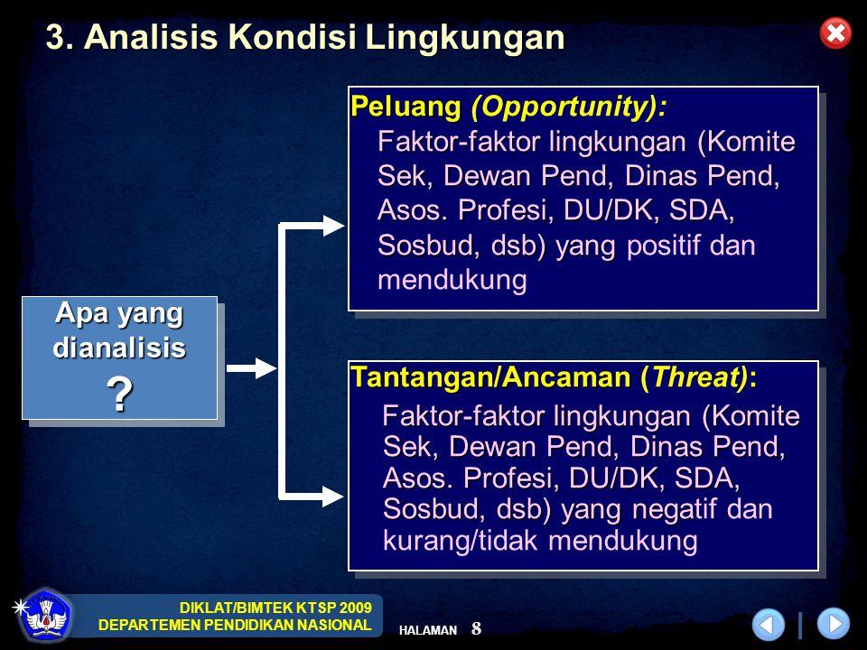 DIKLAT/BIMTEK KTSP 2009 DEPARTEMEN PENDIDIKAN NASIONAL HALAMAN 8 3.