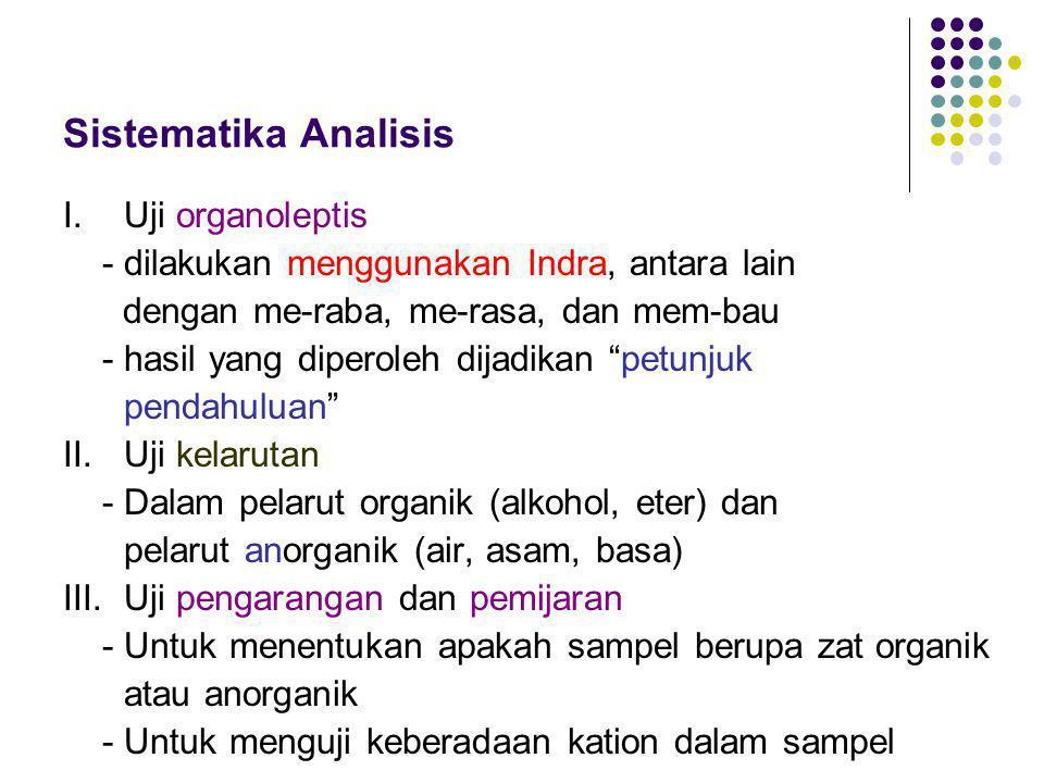 Sistematika Analisis I.