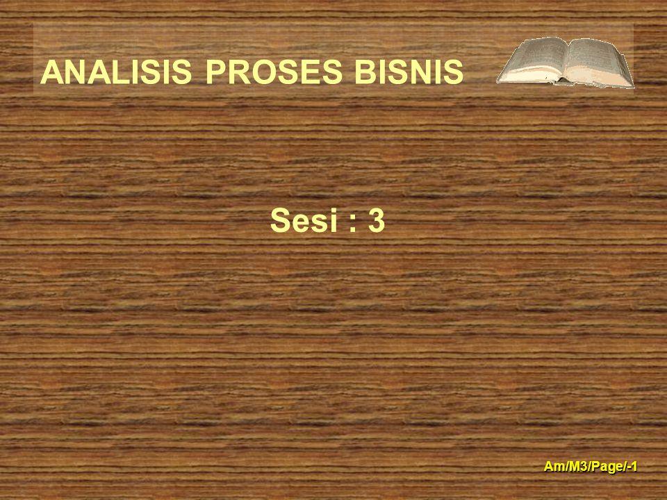 ANALISIS PROSES BISNIS Am/M3/Page/-1 Sesi : 3
