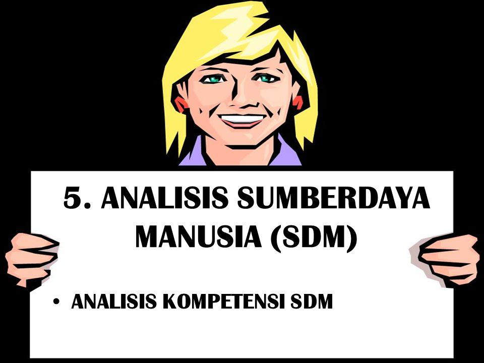 5. ANALISIS SUMBERDAYA MANUSIA (SDM) ANALISIS KOMPETENSI SDM