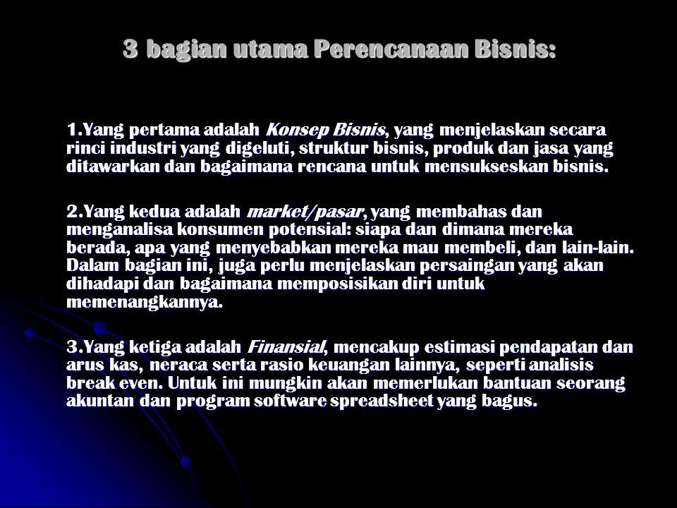 Isi Business Plan LAMPIRAN 1.RINGKASAN EKSEKUTIF 2.