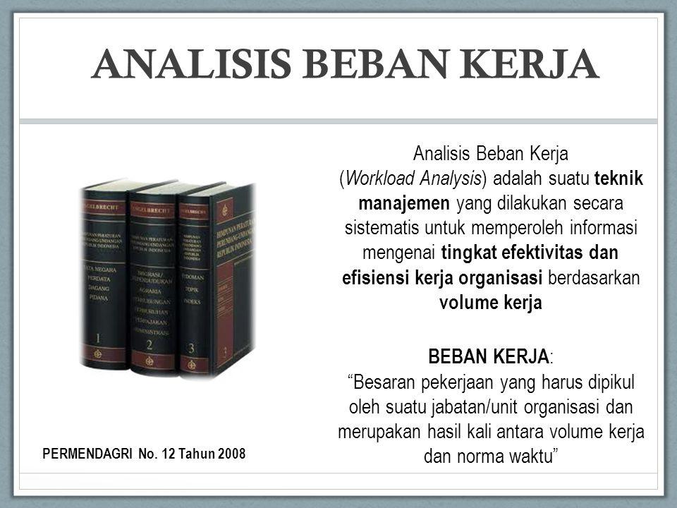 Analisis Beban Kerja ( Workload Analysis ) adalah suatu teknik manajemen yang dilakukan secara sistematis untuk memperoleh informasi mengenai tingkat