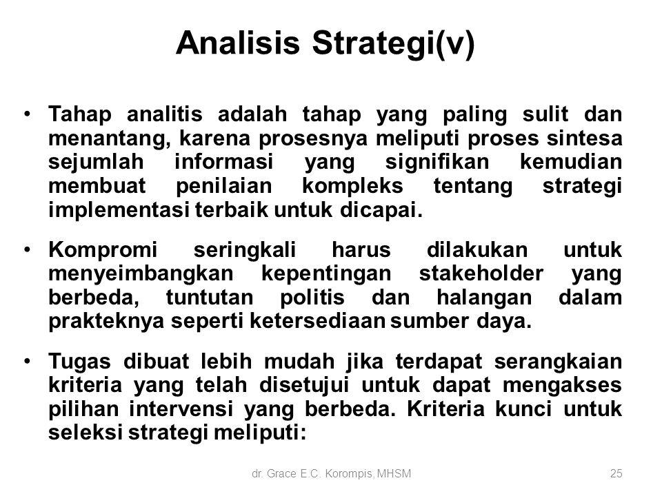 Tahap analitis adalah tahap yang paling sulit dan menantang, karena prosesnya meliputi proses sintesa sejumlah informasi yang signifikan kemudian memb