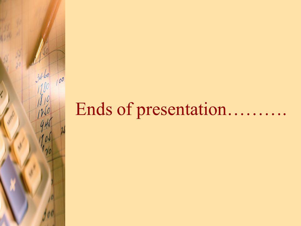 Ends of presentation……….