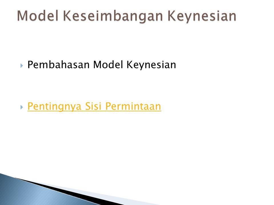 PPembahasan Model Keynesian PPentingnya Sisi Permintaan