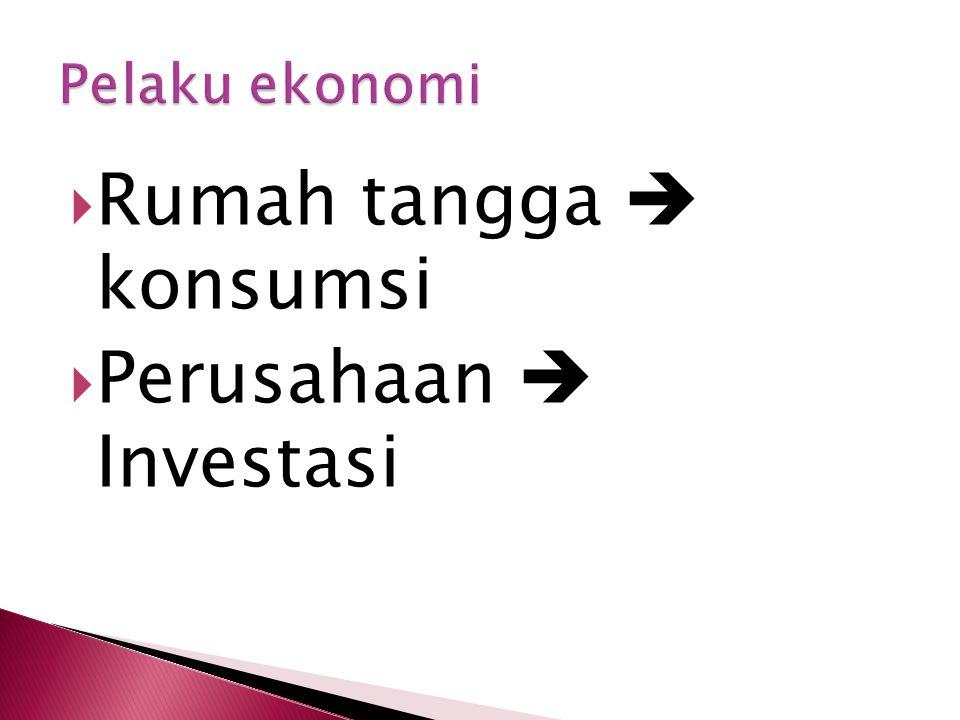  Rumah tangga  konsumsi  Perusahaan  Investasi