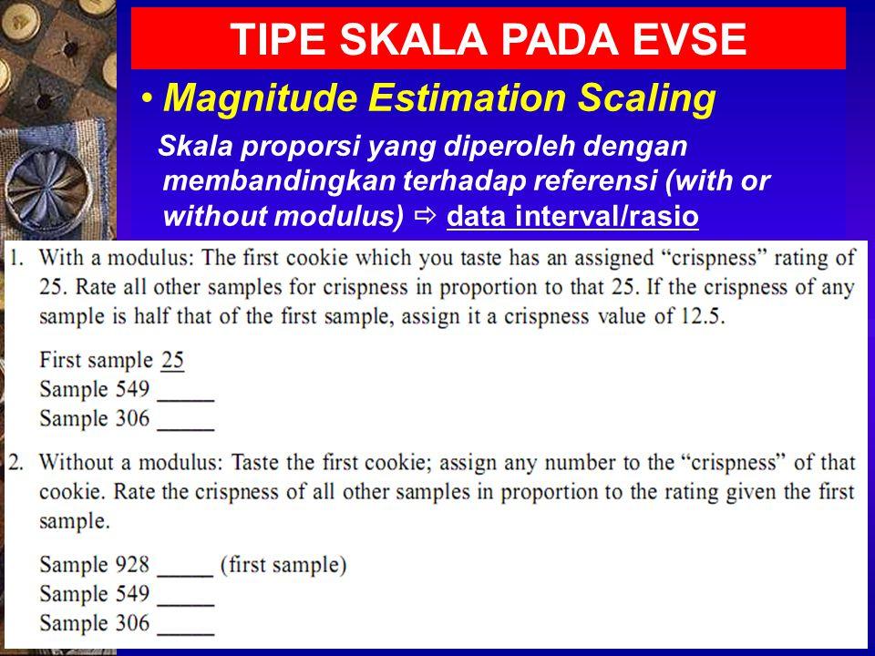 METODE STATISTIKA UTK SENSORI Peluang Binomial Uji Segitiga Uji Duo-Trio Two-out-of-Five Test Directional Difference Test Analisis Khi-kuadrat (Chi-square Analysis) Same/Differentt, A - not A , Acceptance Test Analisis Friedman (Friedman Analysis), data ordinal/peringkat Pairwise Ranking Simple Ranking