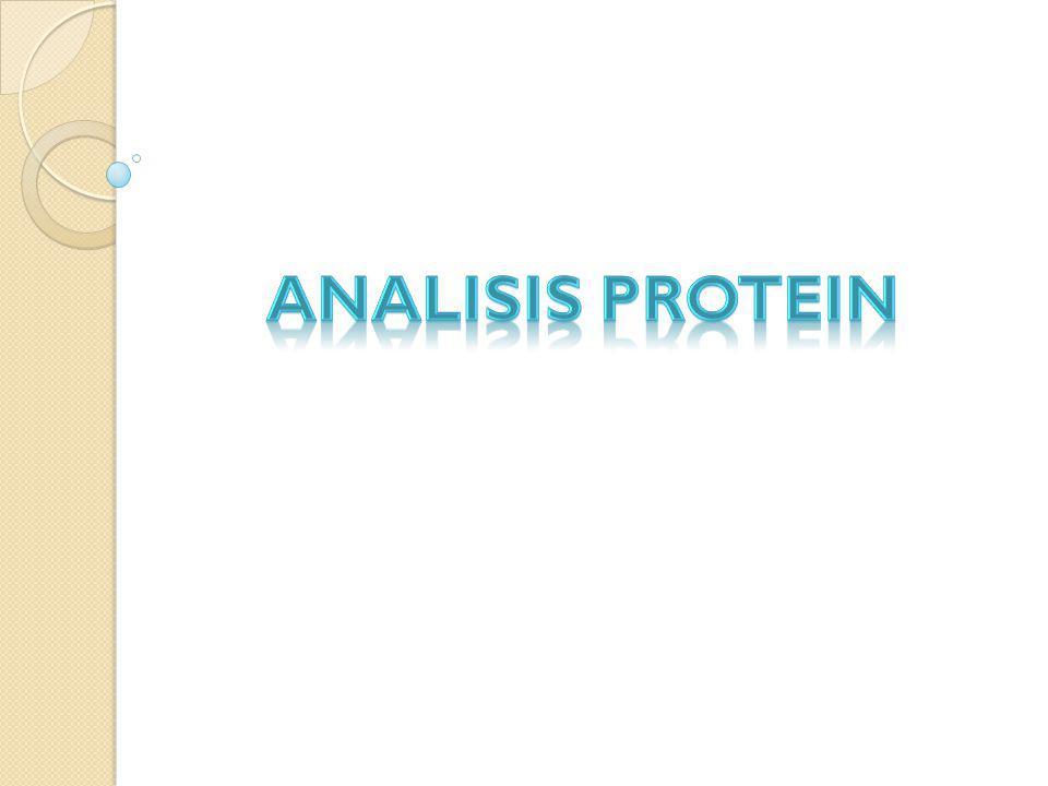 1.Metode Biuret dan Lowry Dasar Metode  Biuret Berdasarkan pengukuran serapan cahaya oleh ikatan kompleks Cu(II)-protein (ungu kebiruan).