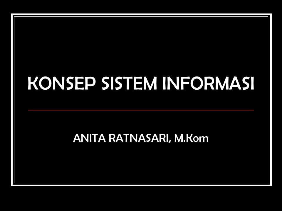KONSEP SISTEM INFORMASI ANITA RATNASARI, M.Kom