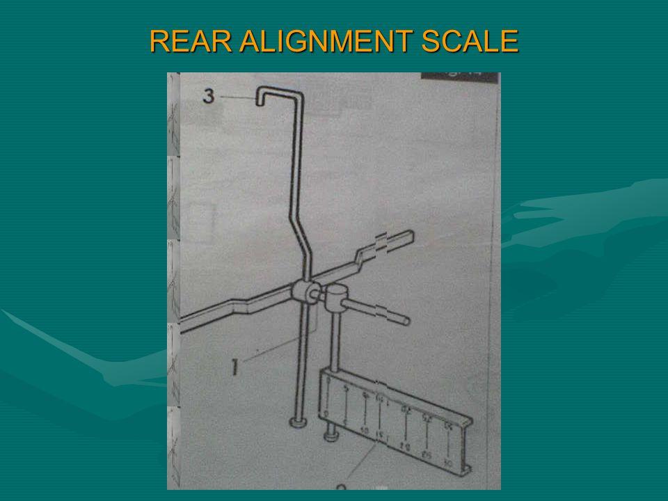 REAR ALIGNMENT SCALE