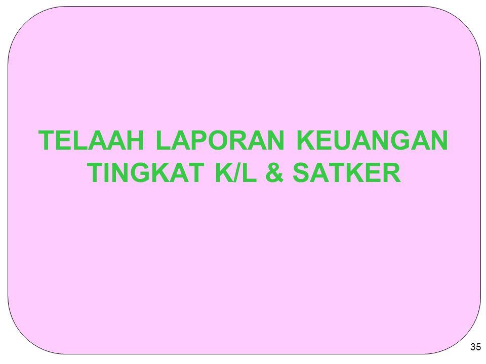 35 TELAAH LAPORAN KEUANGAN TINGKAT K/L & SATKER
