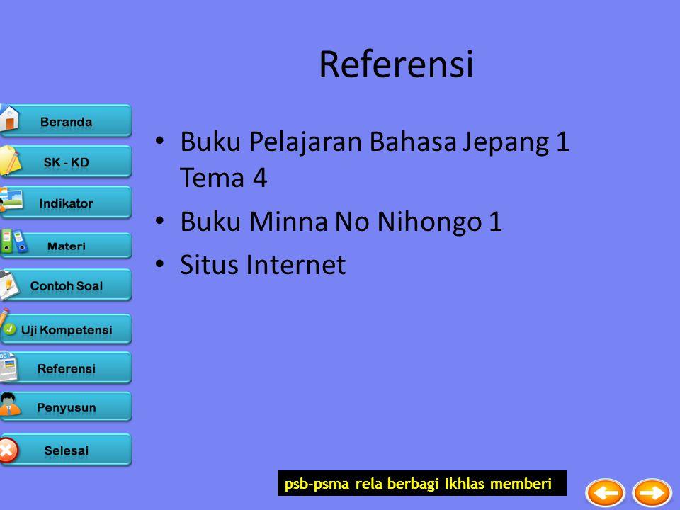 psb-psma rela berbagi Ikhlas memberi Referensi Buku Pelajaran Bahasa Jepang 1 Tema 4 Buku Minna No Nihongo 1 Situs Internet