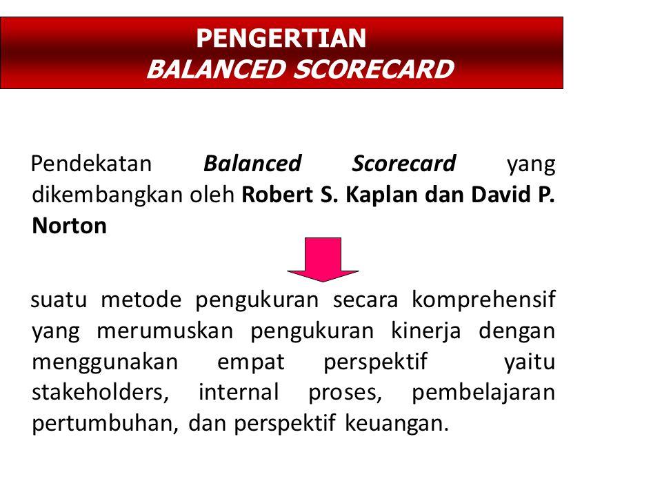 Pendekatan Balanced Scorecard yang dikembangkan oleh Robert S.