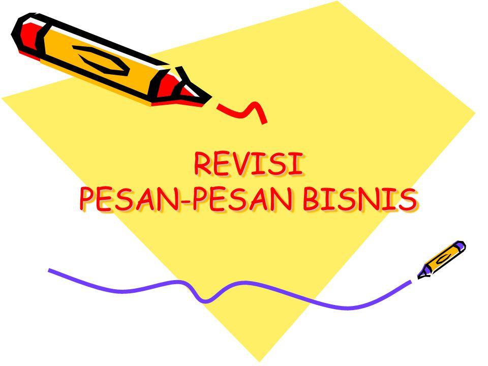 REVISI PESAN-PESAN BISNIS