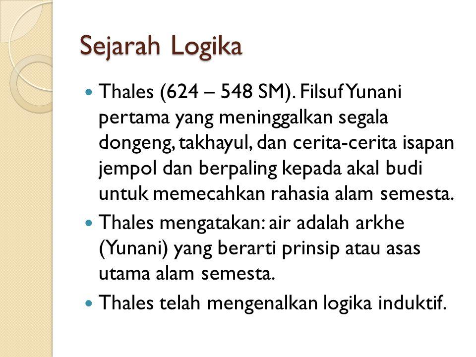 Sejarah Logika Thales (624 – 548 SM).