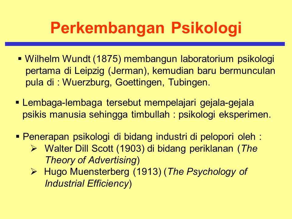 Masalah Pengembangan Psikologi Di Indonesia  Terbatasnya dana  Kurangnya tenaga peneliti  Kurang siapnya keadaan untuk menerapkan psikologi dibidang tenaga kerja dan organisasi Sehingga, di Indonesia psikologi kerja masih sbg Ilmu terapan , yaitu masih terbatas pada seleksi, penempatan & pengembangan karir.