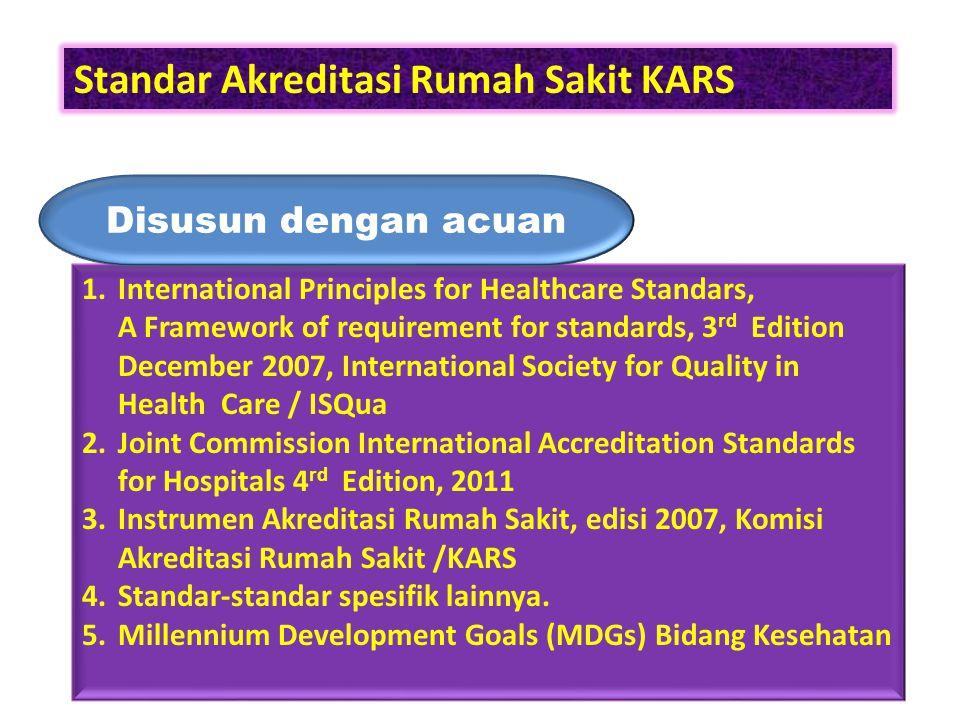 Kerangka Standar Akreditasi Rumah Sakit I.