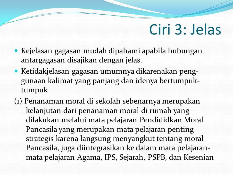 1) Nilai etis sebagaimana tersebut pada paparan di atas menjadi pedoman dan dasar pegangan hidup dan kehidupan bagi setiap warga negara Indonesia 2) Berdasarkan hasil pemeriksaan Badan Pengawas Keuangan dan Pembangunan (BPKP) terungkap bahwa proyek itu telah dilaksanakan sesuai dengan aturan yang berlaku.