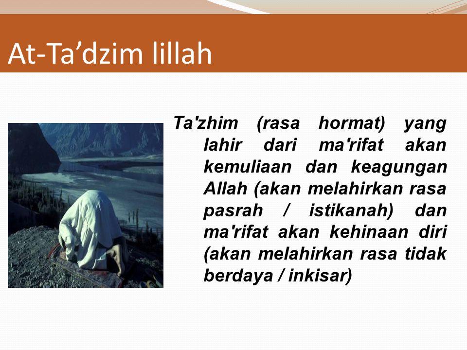 Tafahum li makna al kalam Tafahhum (kefahaman), terhadap makna lafazh bacaan sholat. Senantiasa berfikir dan mengarahkan pikiran untuk mengetahui makn