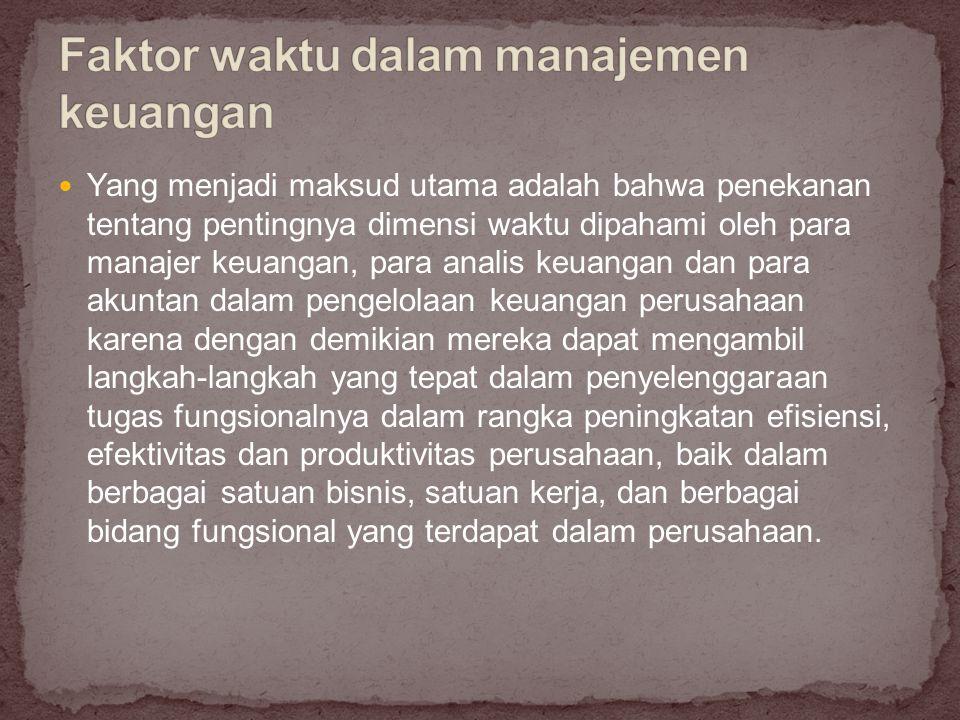 Pentingnya peranan satuan kerja yang mengurus keuangan perusahaan pimpinan sebaiknya merupakan salah seorang anggota tim managemen puncak, misalnya dengan titelatur Wakil Direktur Utama atau Direktur urusan Keuangan.